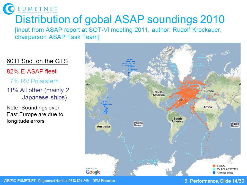 Distribution of gobal ASAP soundings 2010 [input from ASAP report at SOT-VI meeting 2011, author: Rudolf Krockauer, chairperson ASAP Task Team]